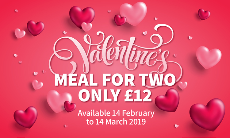 Valentine's Meal for Two Offer